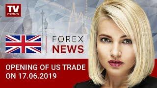 InstaForex tv news: 17.06.2019: US statistics post warning signs: when will Fed cut rates? (USD, DJIA, CAD)