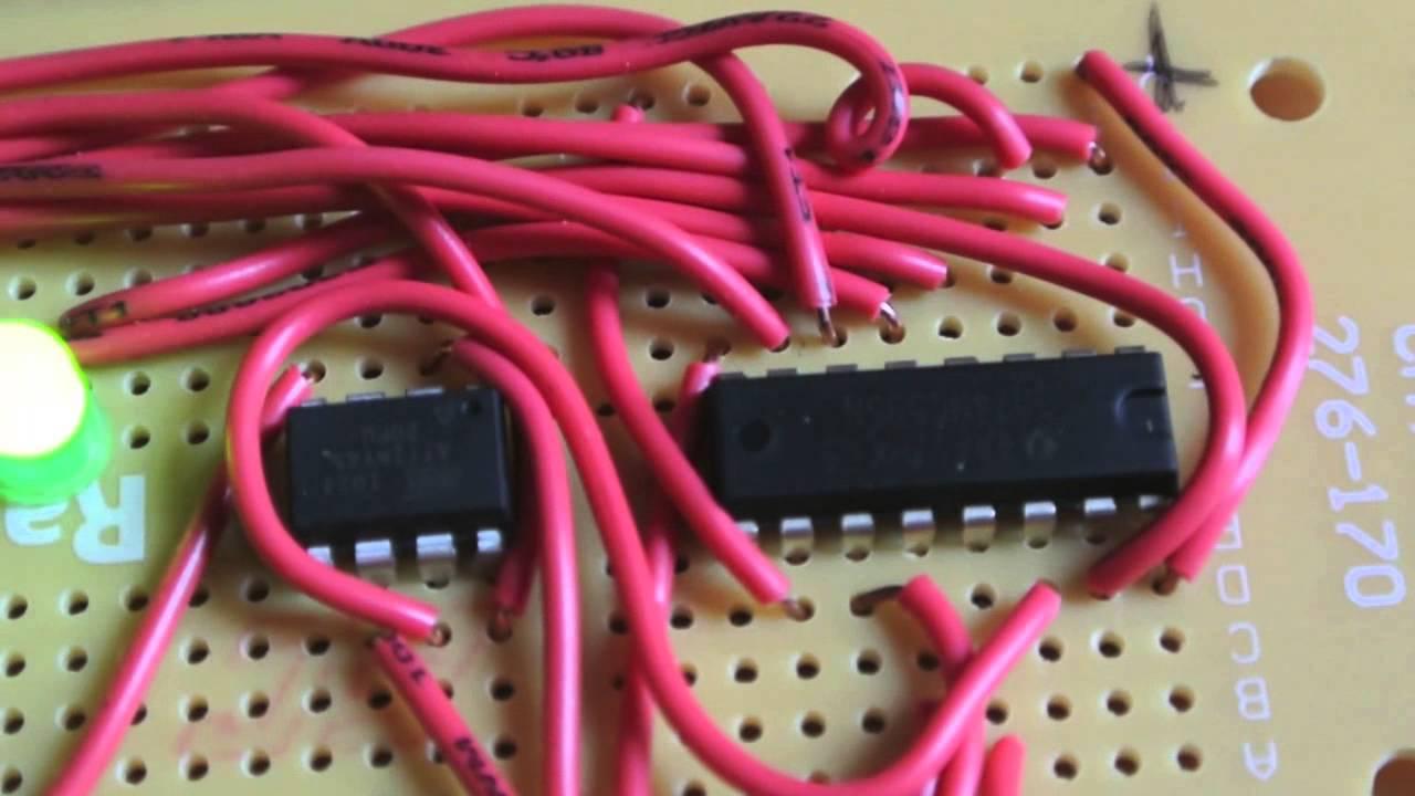 8 Led Chaser With 74hc595 Bit Shift Register Registers 74ls164