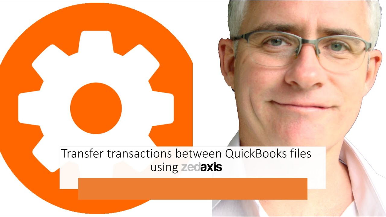 Transfer transactions between QuickBooks files