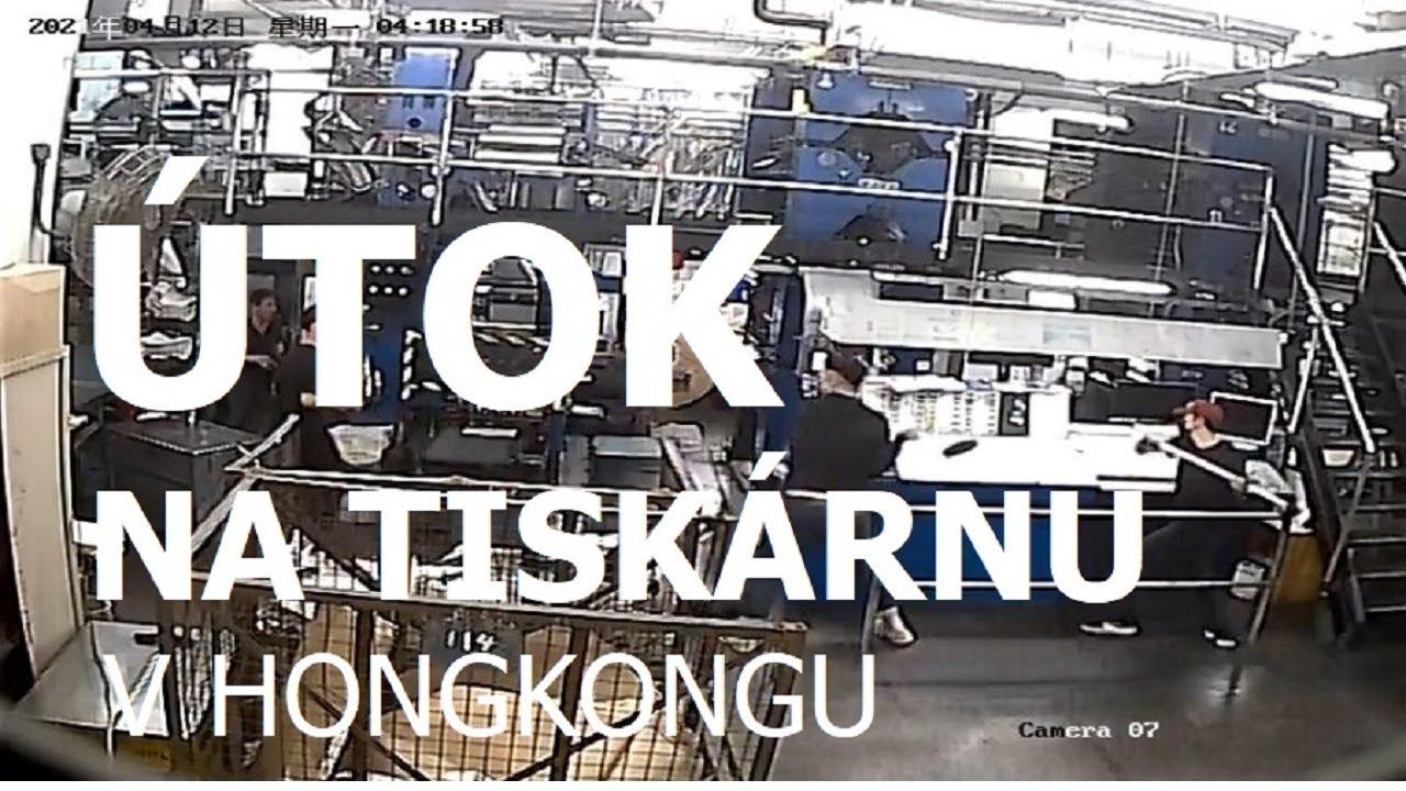 Vetřelci s kladivy zaútočili na tiskárnu Epoch Times v Hongkongu