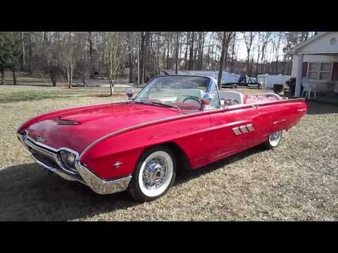 1963 Ford Thunderbird Sport Roadster Start Up, Exhaust, and