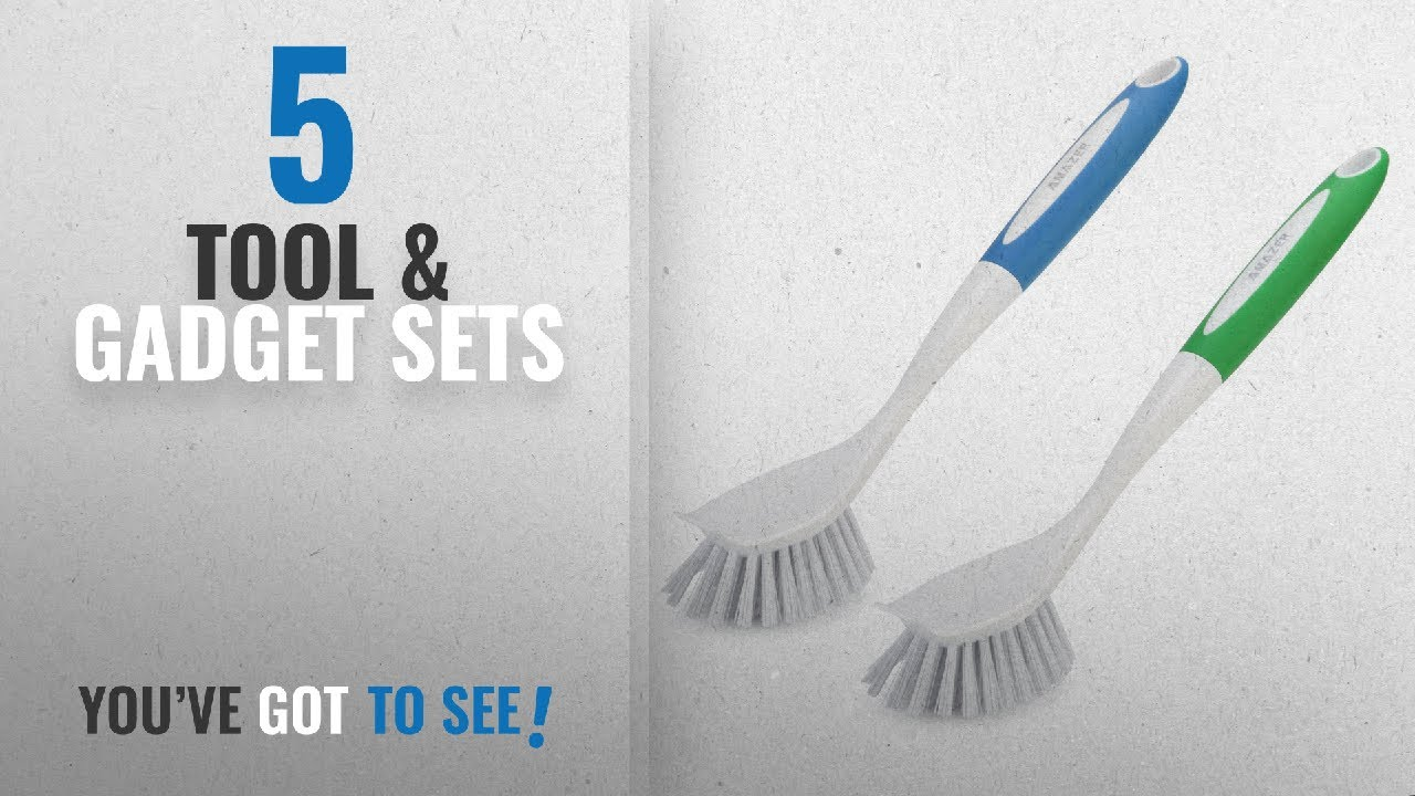 Top 10 Tool & Gadget Sets [2018]: Amazer Dish Brush Kitchen Scrub ...