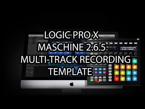 Maschine 265 Via Logic Pro X FREE Multi-Track Recording Template