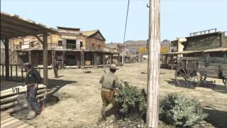 RED DEAD REDEMPTION free roam gameplay/with DireGiraffe