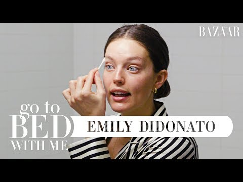 Model Emily DiDonato's Nighttime Skincare Routine | Go To Bed With Me | Harper's BAZAAR