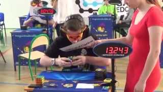 Tops 3 world record rubik's cube 3x3 blind