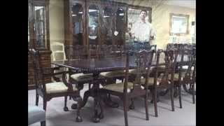 "Mahogany Dining Set W/ 10 Chippendale Chairs ""deal Of The Week"" 03/16/12"