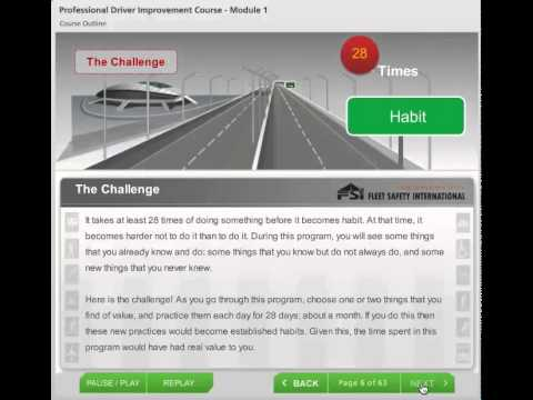 PDIC Condensed Defensive Driving Program Online Course Preview