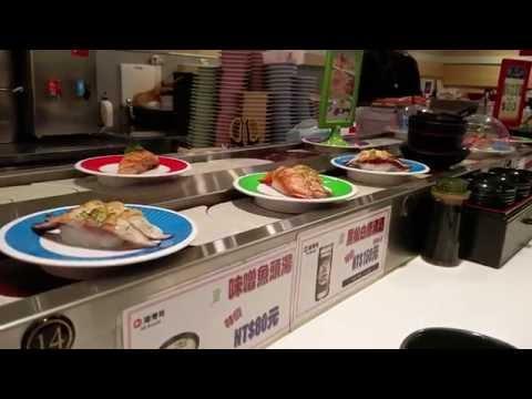 Taipei, taiwan vlog inside a sushi restaurant