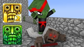 Monster School : GRANNY VS BABY MONSTER TEMPLE RUN CHALLENGE - Minecraft Animation