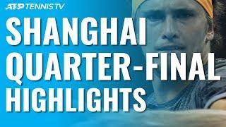 Tsitsipas And Zverev Stun Djokovic And Federer In Epics! | Shanghai 2019 Quarter-Final Highlights