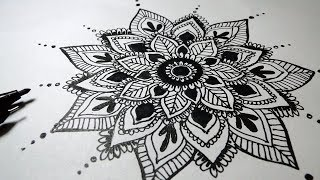 How to draw Mandala Art for beginners Very Easy