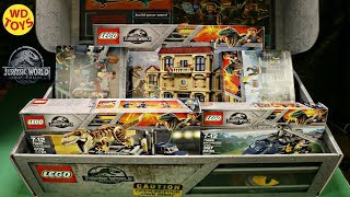 New Lego 14 Jurassic World Fallen Kingdom  Sets Unboxing  Indoraptor Rampage at Lockwood Estate