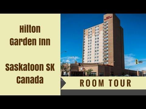 CANADIAN ROOM TOUR Hilton Garden Inn Saskatoon SK   I have a spa!