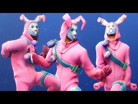 Fortnite RABBIT RAIDER Performs All Dances - All SEASON 1-4 Dance Emotes