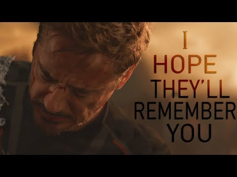 (Marvel) Tony Stark | I Hope They'll Remember You