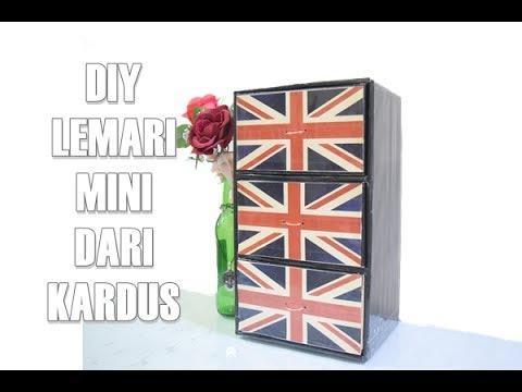Diy Lemari Mini Dari Kardus Easy Diy Tutorial Youtube
