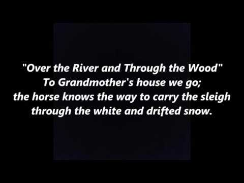 Over the River and Through the Wood THANKSGIVING LYRICS WORDS BEST TOP SING ALONG