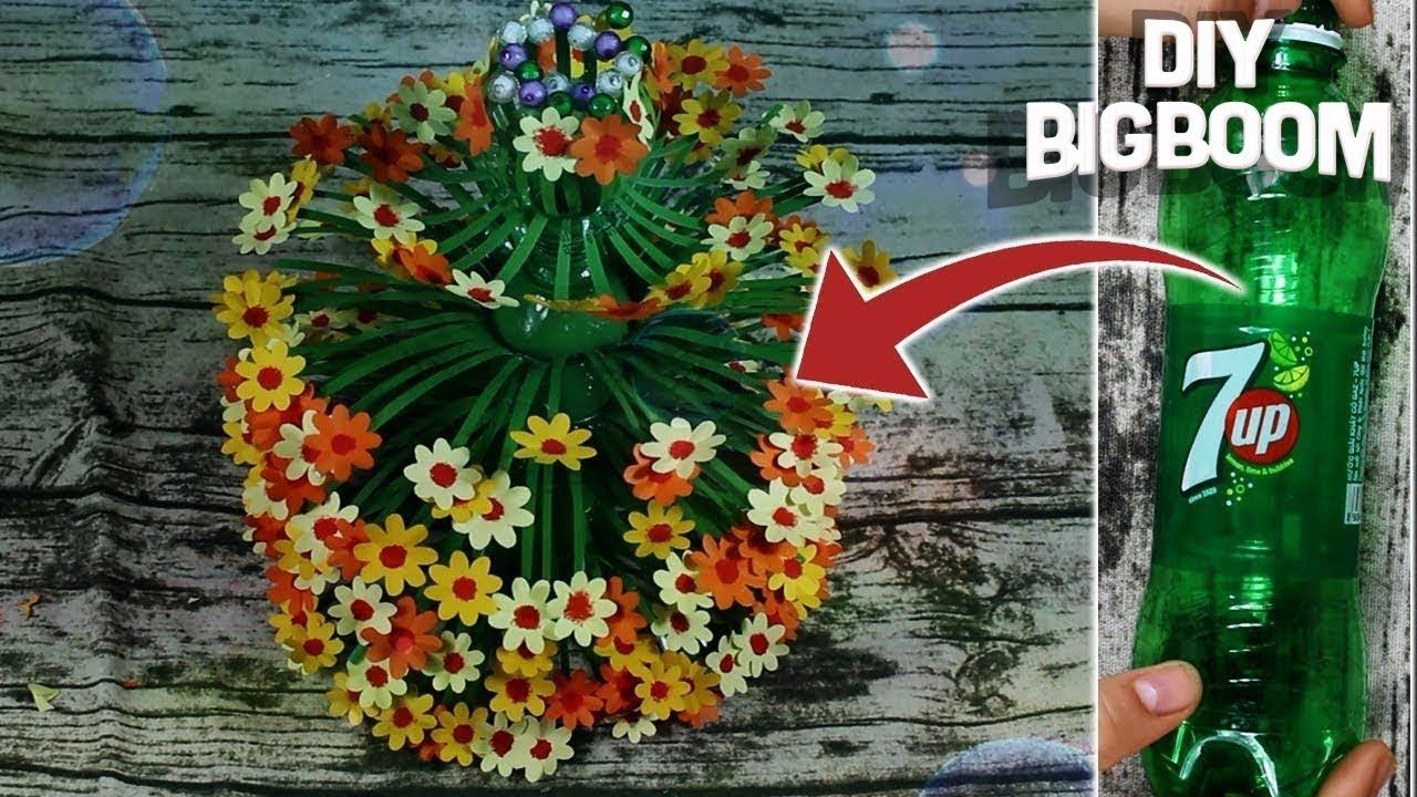 how to make a flower vase using plastic bottle 2018 4
