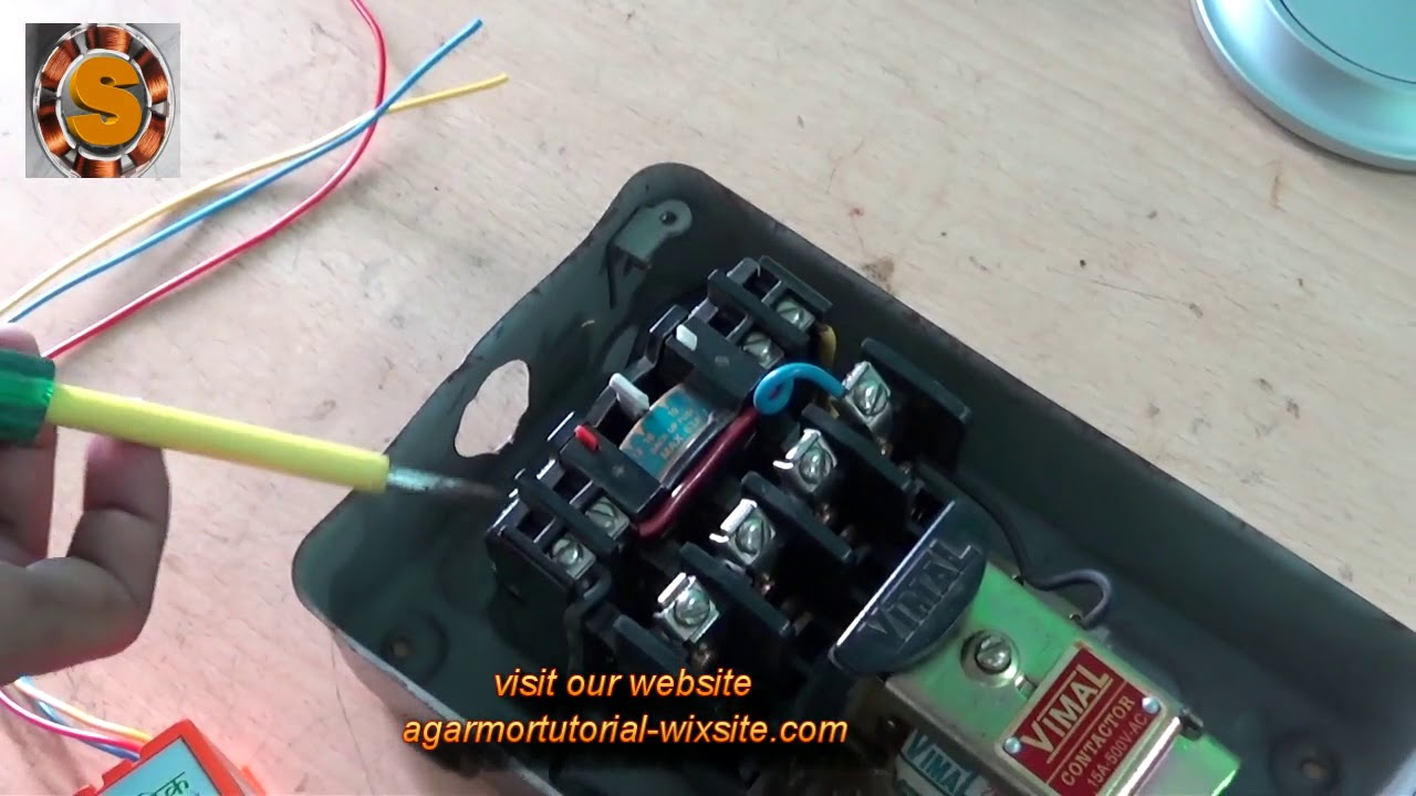 Dol Starter Connection With Auto Switch Youtube Split Phase Motor Wiring Diagram Also Single Ac