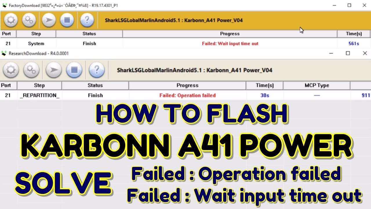 Karbonn A41 Power Flashing & Fix Research download Failed