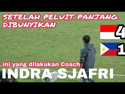 Respect..!! Coach Indra Sjafri kepada Tim Philippines Usai Peluit Panjang dibunyikan