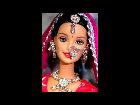 Barbie Doll In Indian Dress And Sarees Youtube