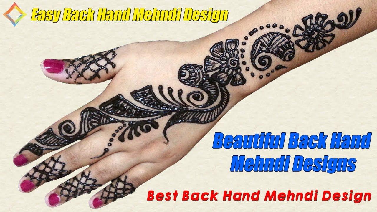 Beautiful Back Hand Mehndi Designs Simple Backhand Mehndi Design
