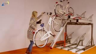 FalcoLevel Premium+ Etagecykelparkering med gaspatron