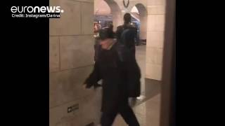 Moments after blast rocked St Petersburg metro caught on camera