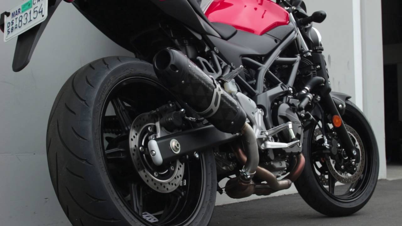 two brothers racing 2017 suzuki sv650 exhaust system youtube. Black Bedroom Furniture Sets. Home Design Ideas