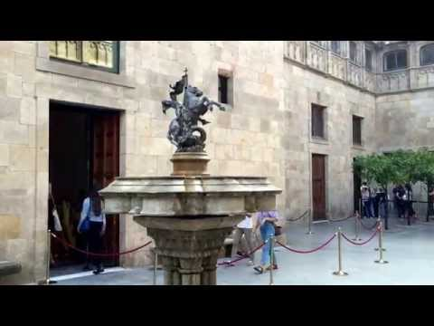 Dentro del Palau de la Generalitat de Catalunya en Barcelona