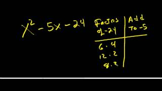 factoring trinomials with a negative c ax2 bx c