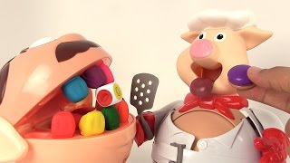Cuisto Dingo Jeu de Société d'Action et de Réflexe avec le Play Doh Dentiste Pop the Pig