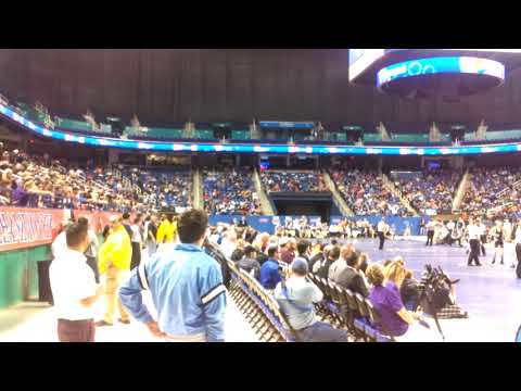 State wrestling championships, the scene