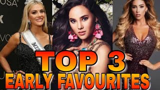 MISS UNIVERSE 2018 TOP 3 FAVOURITES (SEPTEMBER EDITION)