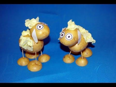 Поделки из овощей для детского сада своими руками фото из картошки