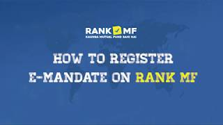 How to Register E-Mandate on RankMF | English Tutorial Video | RankMF