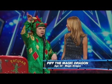 Americas Got Talent 2015 S10E01 Piff The Magic Dragon Hilarious Magician