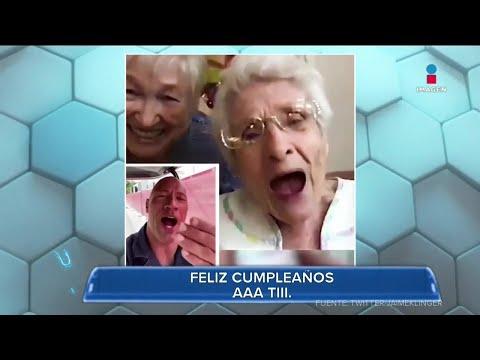 La Roca felicita a mujer por cumplir 101 años