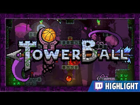 Towerball - It's Towerfall with Basketball!! (Twitch Highlight)