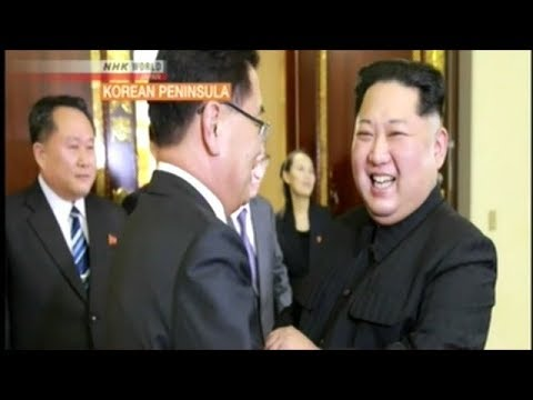 Kim Jong Un Looking Very Happy At Meeting With South Korean Delegation!