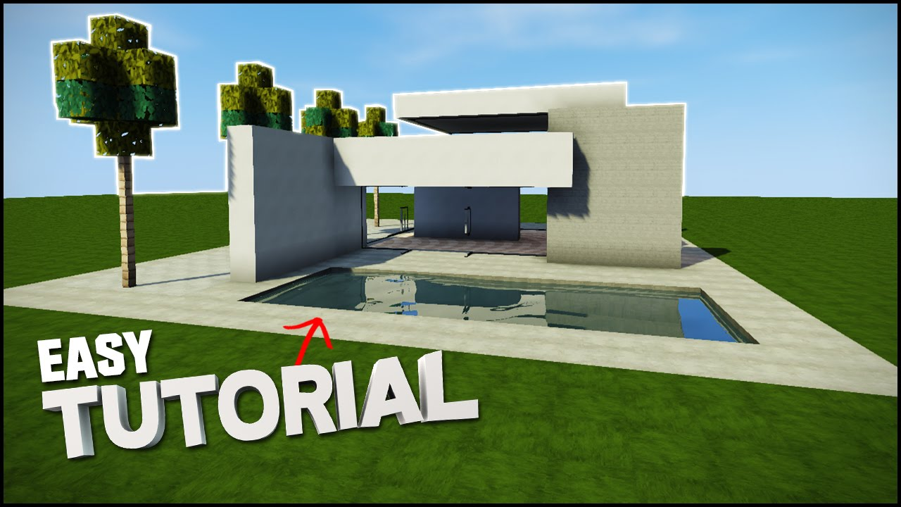 Minecraft house tutorial sleek modern house best house tutorial youtube Sleek homes that are unapologetically modern