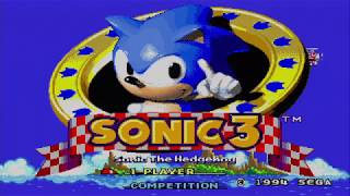 Sonic the Hedgehog 3 Playthrough Megadrive (PAL) No Commentary