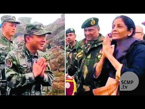 Indian Defence Minister teaches Chinese soldiers how to say 'namaste'