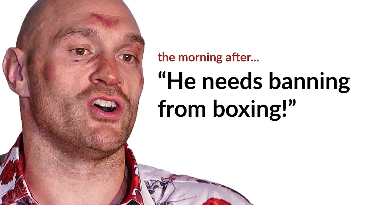 Tyson Fury reacts to commission banning face off with Deontay ...