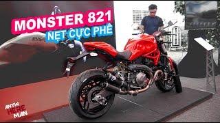 DUCATI MONSTER 821 BEST EXHAUST SOUND EVER  P TERMIGNONI FULL  Vietnam motovlog