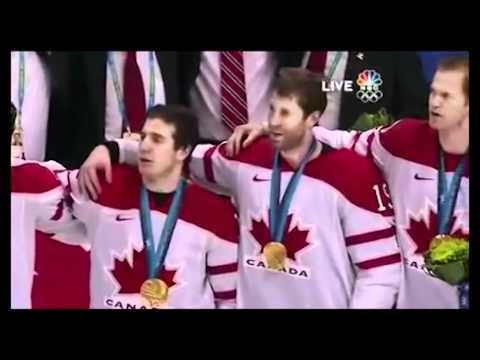 National Anthem of Canada after winning the gold medal during Olympic game.mpg