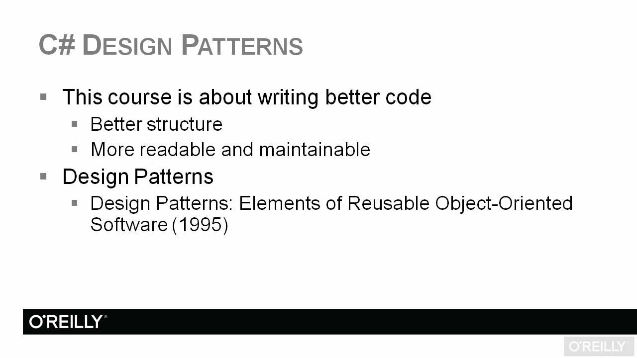 C design patterns tutorial introduction youtube c design patterns tutorial introduction baditri Image collections