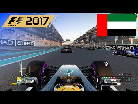 F1 2017 - 100% Race at Yas Marina Circuit, Abu Dhabi in Hamilton's Mercedes